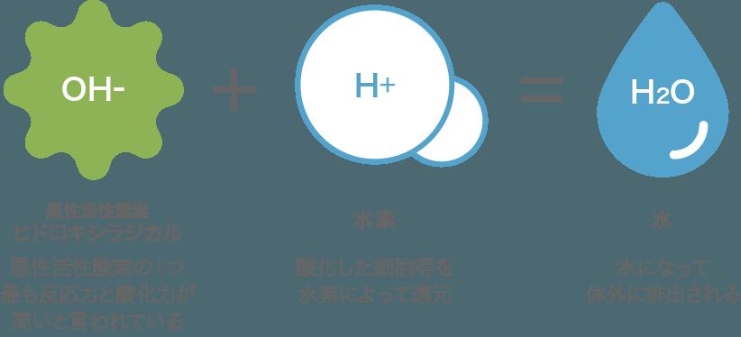 悪玉活性酸素の除去に注目される「水素のチカラ」